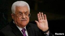 Udhëheqësi i Autoritetit Palestinez, Mahmoud Abbas, gjatë mbledhjeve të mëhershme në OKB.