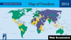 Freedom House - map of freedom 2014