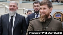 Глава Чечни Рамзан Кадыров, депутат Госдумы Адам Делимханов и спикер парламента республики Магомед Даудов