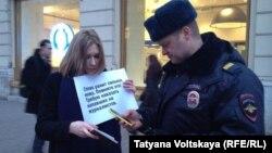 ГIалгIайчохь журналисташна динчу тIелатарна бехкенаш жоьпе озор дехарца Петарбухахь хIоттийна пикет, 2016