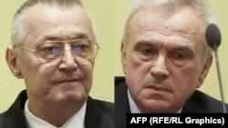 Jovica Stanishiq dhe Franko Simatoviq (majtas) në Gjykatën e Hagës