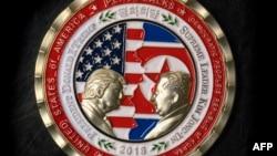 Монета, выпущенная к саммиту в Сингапуре