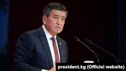 Президент Сооронбай Жээнбеков на конференции «Кыргызская Республика: национальный диалог по региональному развитию». 27 февраля 2019 года.