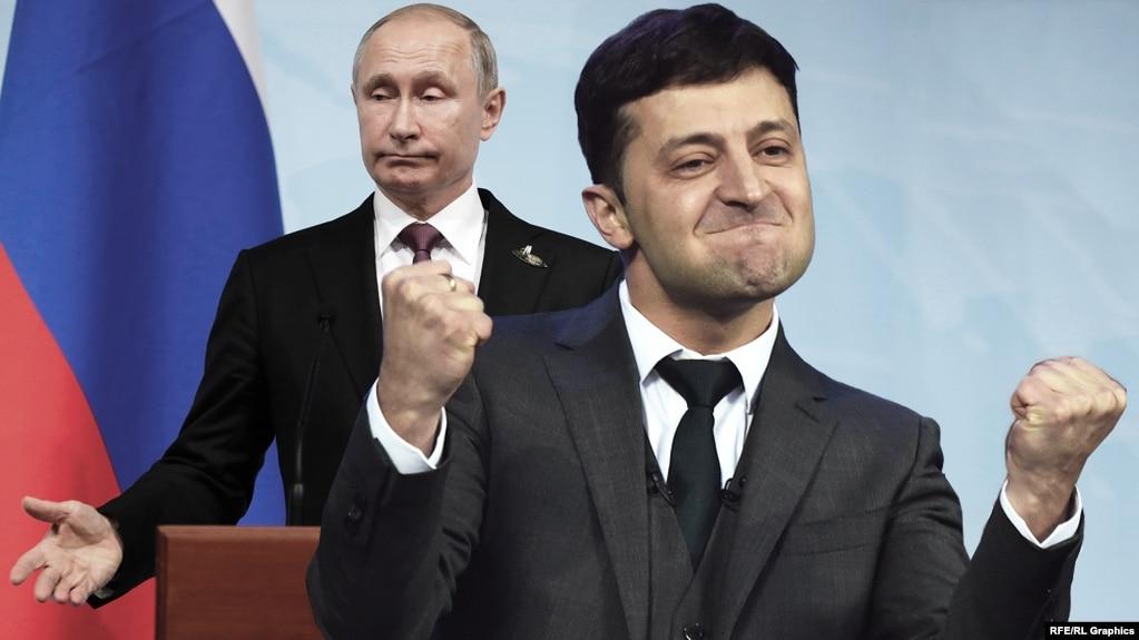 Владимир Путин и Владимир Зеленский, коллаж