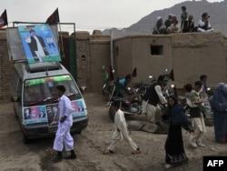 Представители хазарейцев во время выборов в парламент. 13 сентября 2010 года.