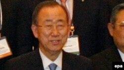 Генеральный секретарь ООН Пан Ги Мун во время саммита в Сеуле, 19 мая 2015 года.