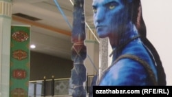 Avatar filminin reklamı Türkmənistanda...