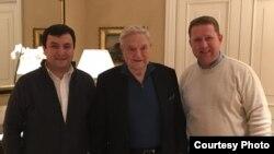 Встреча Илхома Абдуллоева и Алмаза Сайфутдинова с Джорджем Соросом состоялась в феврале этого года в Вене