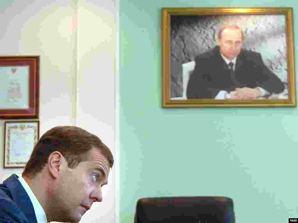 The Protege - Dmitry Medvedev's career flourished under the watchful eye of his friend and mentor, Vladimir Putin. While portrayed as a representative of the younger perestroika-era generation, Medvedev's 17 years under Putin reveal old-guard status. As president, he is expected to rely on his administrative and legal skills to establish his own identity -- with Putin waiting in the wings as a likely prime minister.