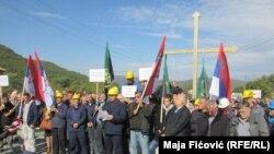 Protesta në pjesën veriore të Mitrovicës