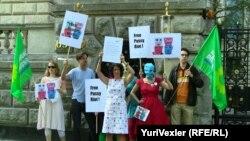 Акция в поддержку Pussy Riot в Берлине