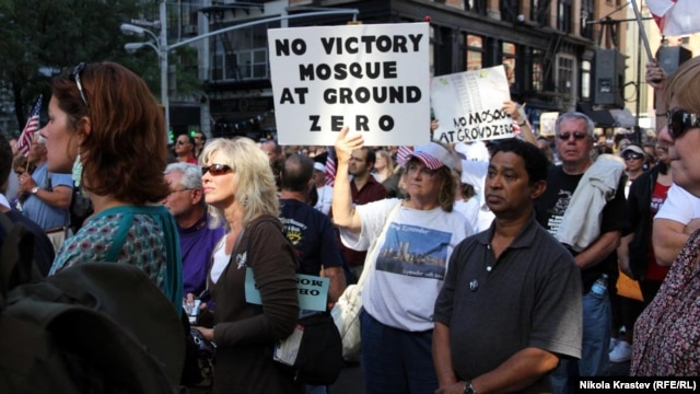 "Protesters demonstrated in 2010 against what was being dubbed a ""mosque"" at Park51, just two blocks from the former World Trade Center site that was leveled by Al-Qaeda operatives on September 11, 2001."