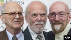 Лауреаты Нобелевской премии за обнаружение гравитационных волн Райнер Вайсс, Барри Бэриш и Кип Торн
