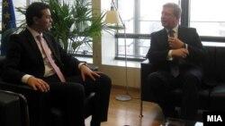 Средба на Министерот за надвореши работи Никола Попоски со еврокомесарот за проширување Штефан Филе во Брисел.
