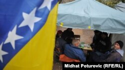 Protest roditelja iz Konjević Polja, novembar 2013.
