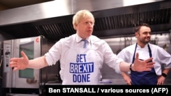 Борис Джонсон во время предвыборной кампании