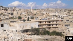 Сирийский город Дарат Аззах рядом с Алеппо – после бомбардировки