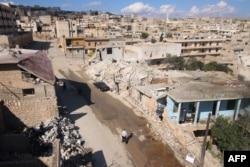 Пригород Алеппо, разрушенный бомбардировкой