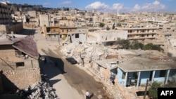 Вид на разрушенный район Алеппо