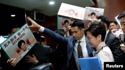 Izviždana šefica vlade Hong Konga