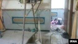 تصویری از یک خانه که خبرگزاری ایرنا آن را منتشر کرده و گفته که مربوط به حفر تونل از سوی اعضای یک «تیم خرابکار» در شهر خاش است.