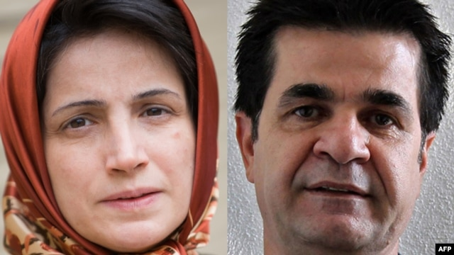 Nasrin Sotoudeh (left) and Jafar Panahi