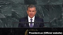 Shavkat Mirziyoev addressed the UN General Assembly on September 19.