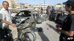 آثار إنفجار في مدينة الحرية ببغداد