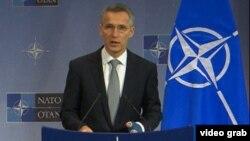 Генералниот секретар на НАТО, Јенс Столтенберг .