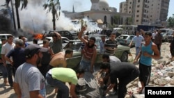 Фото с места событий, Триполи (Ливан), 23 августа