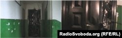 Пошкоджені двері квартири Леоніда Харченка у Костянтинівці