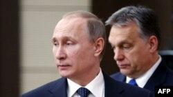 Президент Росії Володимир Путін іпрем'єр-міністр Угорщини Віктор Орбан, архівне фото