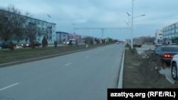 Заасфальтированная дорога в Жанаозене. 7 декабря 2013 года.