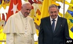 Papa Francisc și Raul Castro la Havana, 20 septembrie 2015