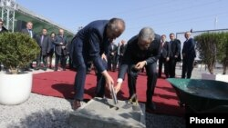 Armenia - Officials hold a ground-breaking ceremony for the construction by an Italian company of a new power plant in Yerevan, 20Mar2017.