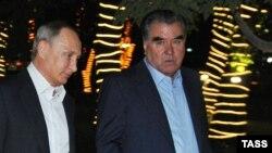 Таджикистан. Эмомали Рахмон и Владимир Путин. Душанбе, 14.09.2015