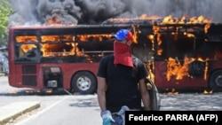 Demonstrator opozicije tokom jednog od protesta u Venecueli