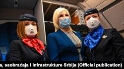 Ministarka Zorana Mihajlović na aerodromu u Beogradu