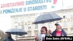 Prosvjed umirovljenika, Zagreb, 2017.