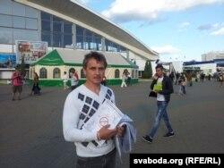 Анатоль Лябедзька агітуе за байкот ля Камароўкі
