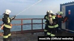 Навчання рятувальників на Керченському мосту, 22 листопада 2017 року