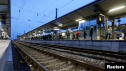 A train station in Munich-Pasing, November 7, 2014