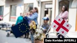 У Грузії святкують набуття чинності угоди про безвізовий режим із Євросоюзом, Тбілісі, Грузія, 26 березня 2017 року