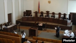 Armenia - A Constitutional Court hearing in Yerevan.