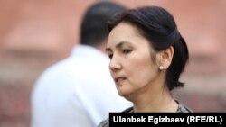 Аида Салянова, член оппозиционной парламентской фракции Кыргызстана «Ата Мекен».