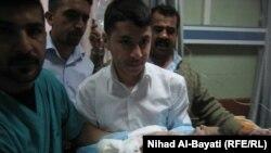 طفلة حديثة الولادة ضحية الإنفجار