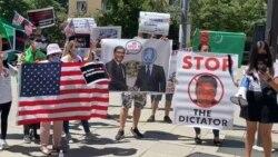 Туркменские активисты провели акции протеста в Вашингтоне