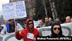 Šerbedžija na protestima u Sarajevu