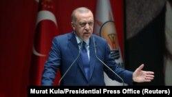 Режеп Тайып Эрдоган АК партиянын Анкарадагы жыйынында. 5-сентябрь, 2019-жыл.