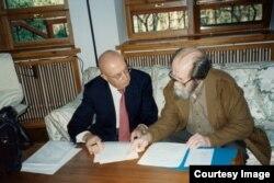 С Александром Солженицыным
